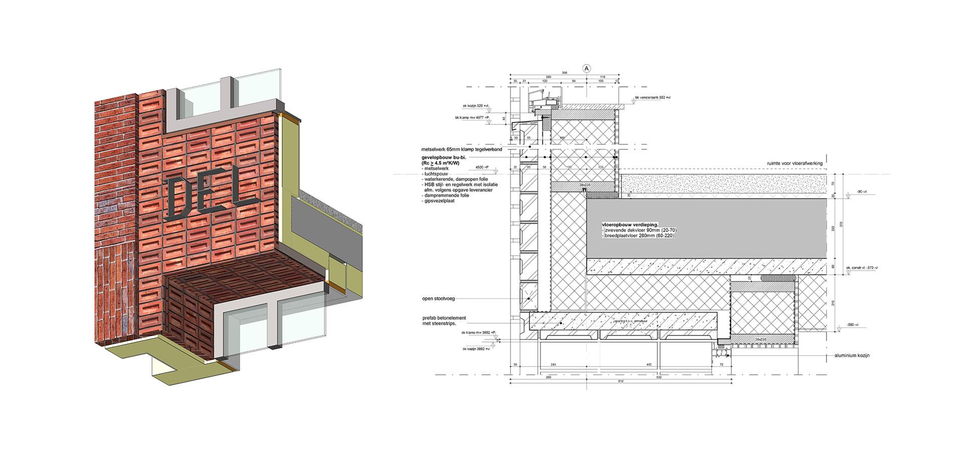 FARO architecten Van Leeuwenhoekkwartier Delft Detail